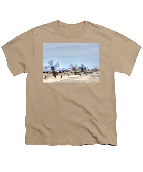 Parade Of Mustangs Youth T-Shirt