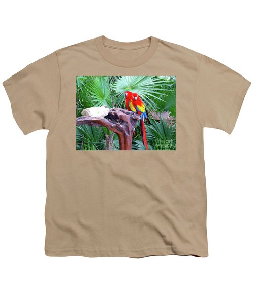 Youth T-Shirt featuring the digital art Parrots by Francesca Mackenney