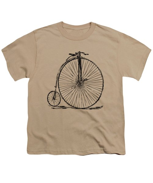 Penny-farthing 1867 High Wheeler Bicycle Vintage Youth T-Shirt by Nikki Marie Smith