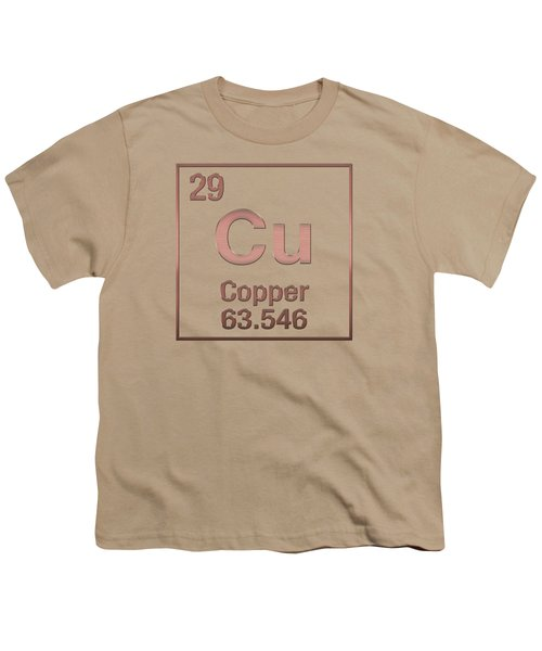 Periodic Table Of Elements - Copper - Cu - Copper On Copper Youth T-Shirt