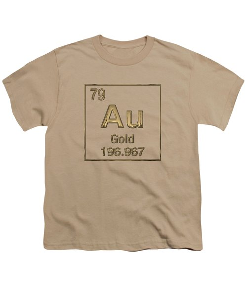 Periodic Table Of Elements - Gold - Au Youth T-Shirt