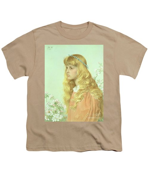 Portrait Of Miss Adele Donaldson, 1897 Youth T-Shirt by Anthony Frederick Augustus Sandys