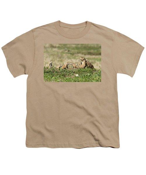 Prairie Dog Family 7270 Youth T-Shirt