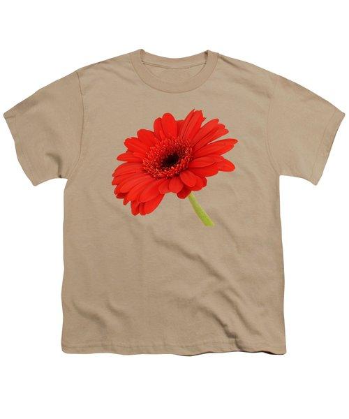 Red Gerbera Daisy 2 Youth T-Shirt