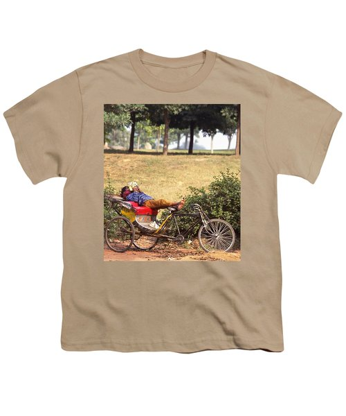 Rickshaw Rider Relaxing Youth T-Shirt
