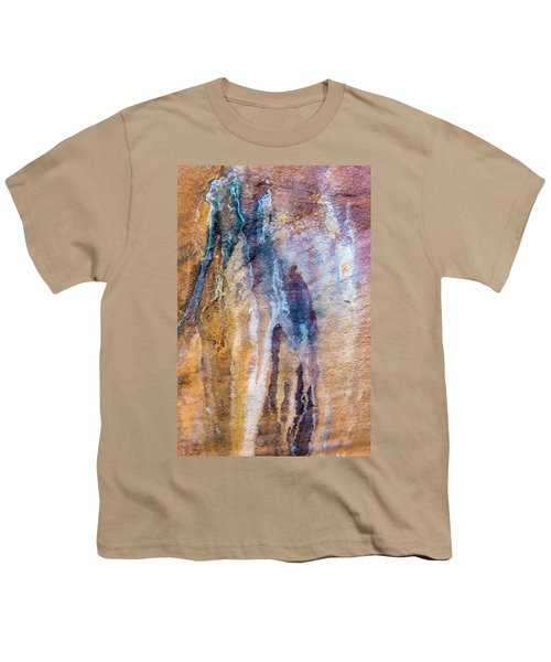 Youth T-Shirt featuring the photograph Runoff Abstract, Bhimbetka, 2016 by Hitendra SINKAR