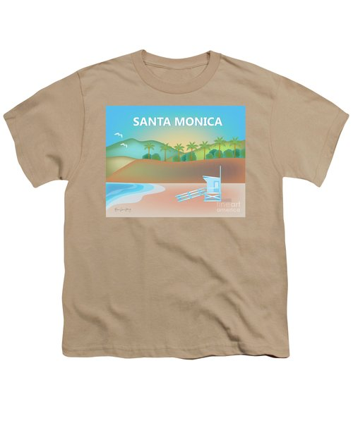 Santa Monica California Horizontal Scene Youth T-Shirt