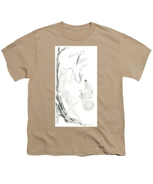 Youth T-Shirt featuring the digital art Sax Girl by ReInVintaged