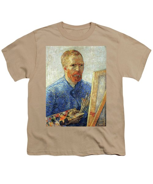 Youth T-Shirt featuring the painting Self Portrait As An Artist by Van Gogh