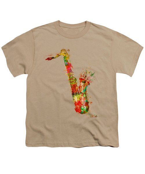 Sexy Saxaphone Youth T-Shirt by Nikki Smith