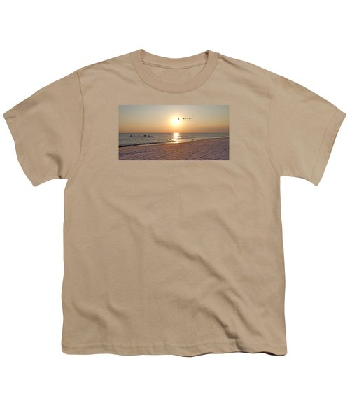 Shackleford Banks Sunset Youth T-Shirt by Betsy Knapp