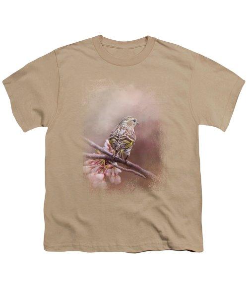 Siskin In The Garden Youth T-Shirt by Jai Johnson
