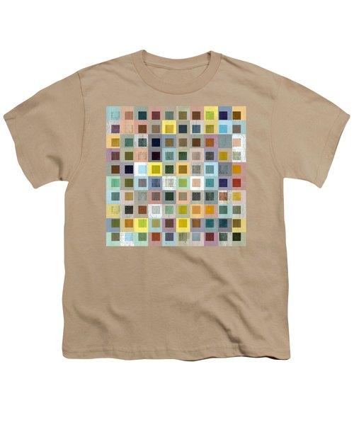 Youth T-Shirt featuring the digital art Squares In Squares Three by Michelle Calkins
