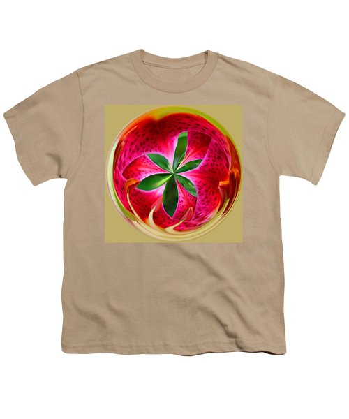 Stargazer Lily Orb Youth T-Shirt by Bill Barber