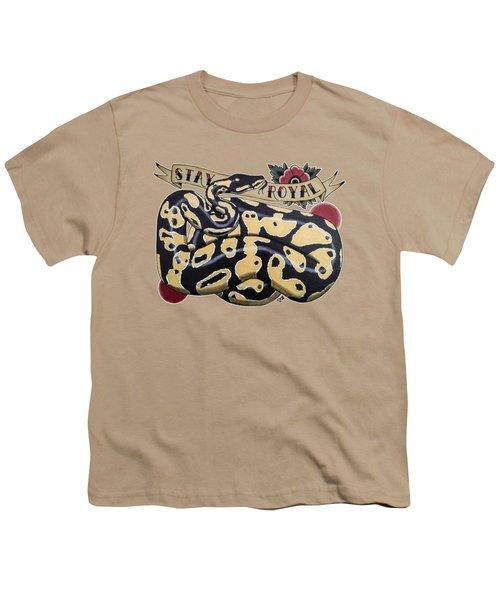Stay Royal Ball Python Youth T-Shirt by Donovan Winterberg