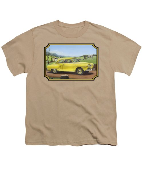 Studebaker Champion Antique Americana Nostagic Rustic Rural Farm Country Auto Car Painting Youth T-Shirt