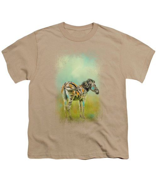 Summer Zebra 1 Youth T-Shirt by Jai Johnson