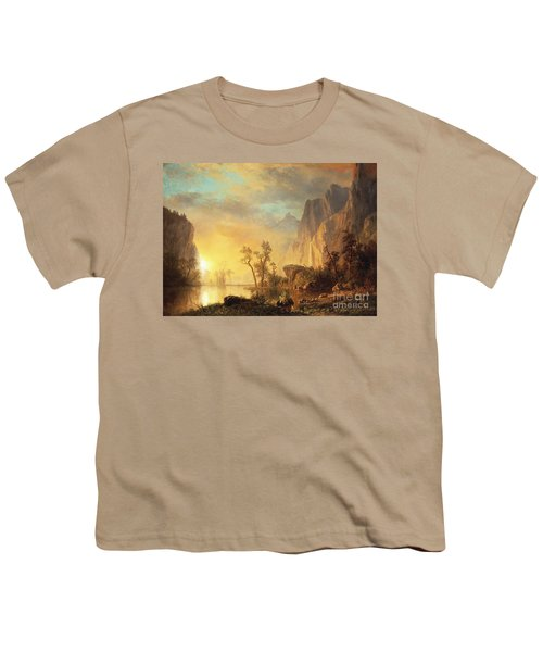 Sunset In The Rockies Youth T-Shirt