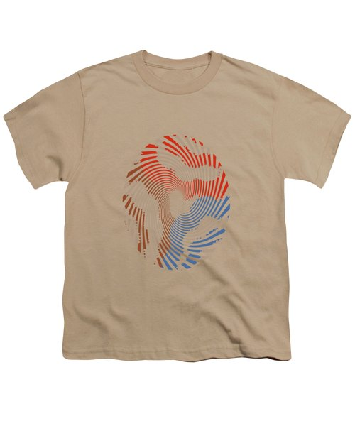 Taupe Ring Pattern Youth T-Shirt