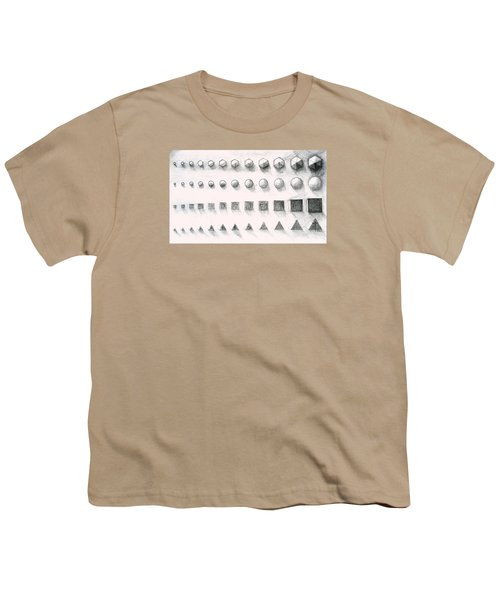 Youth T-Shirt featuring the drawing Template by James Lanigan Thompson MFA