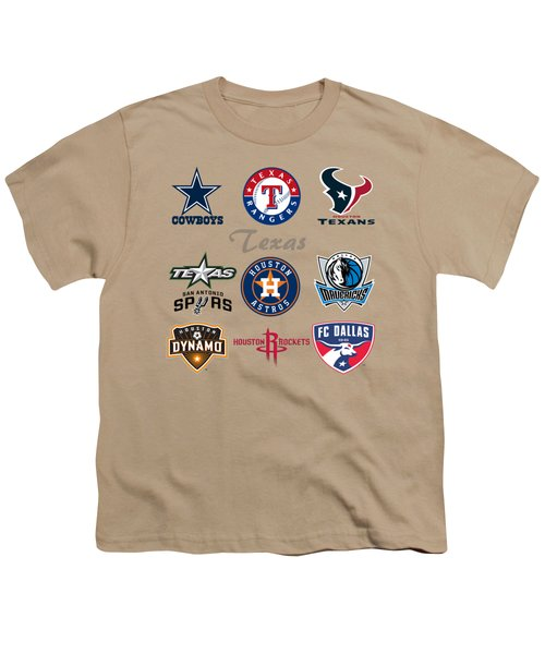 Texas Professional Sport Teams Youth T-Shirt