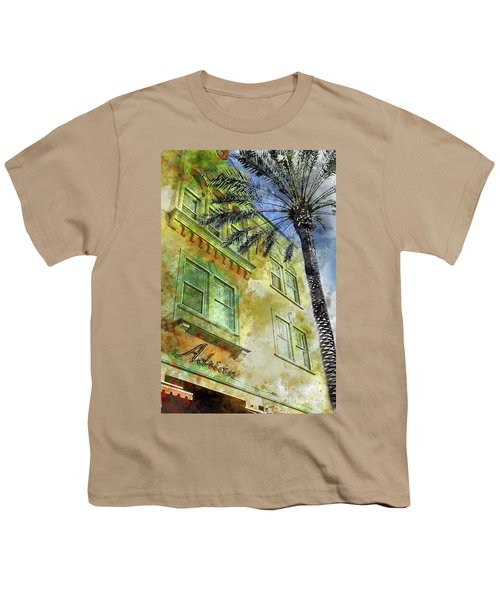 The Adrian Hotel South Beach Youth T-Shirt by Jon Neidert