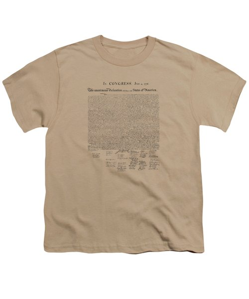 The Declaration Of Independence Youth T-Shirt by War Is Hell Store