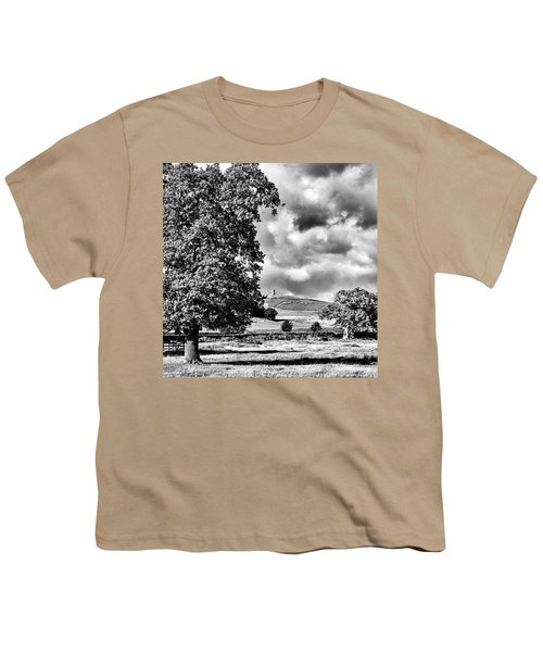 Old John Bradgate Park Youth T-Shirt by John Edwards