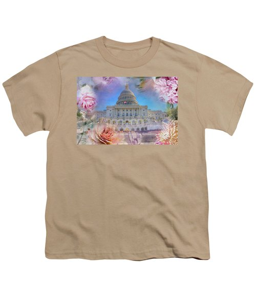 The Us Capitol Building At Spring Youth T-Shirt