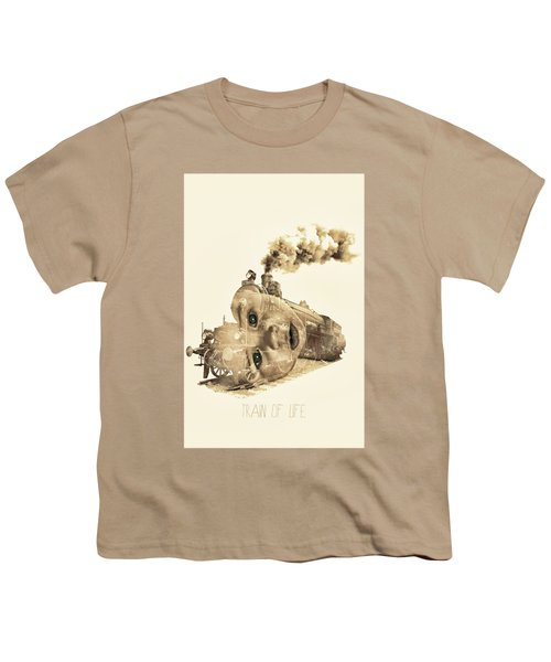Train Of Life Youth T-Shirt by Mauro Mondin