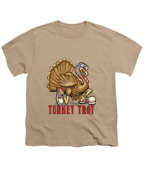 Turkey Trot Youth T-Shirt by Kevin Middleton