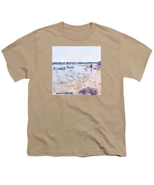 Two Boats At Ten Pound Island Beach Youth T-Shirt