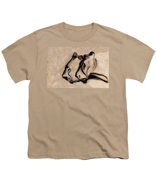 Two Chauvet Cave Lions - Clear Version Youth T-Shirt