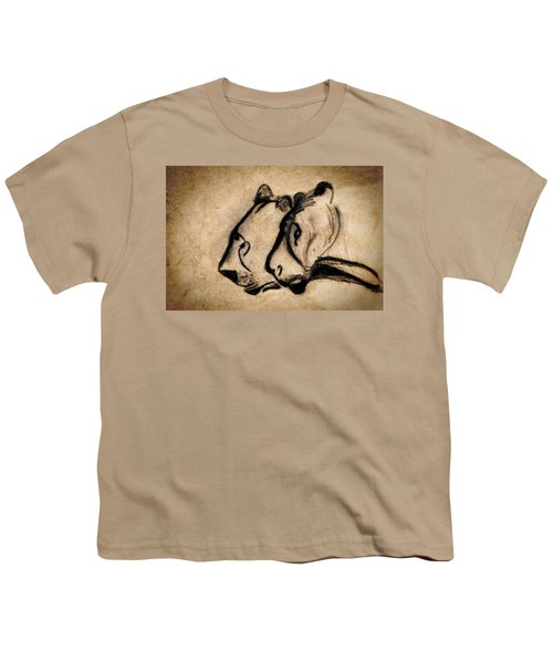 Two Chauvet Cave Lions Youth T-Shirt