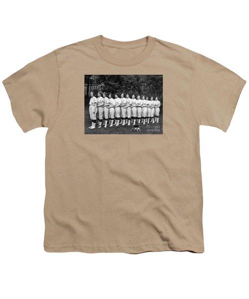 Vintage Photo Of Women's Baseball Team Youth T-Shirt