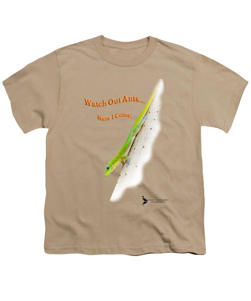 Watch Out Ants...here I Come Youth T-Shirt