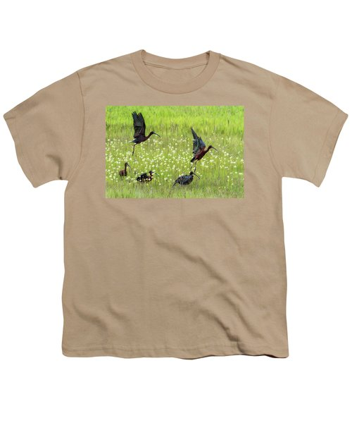 White-faced Ibis Rising, No. 1 Youth T-Shirt