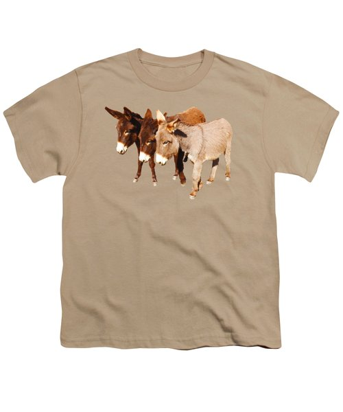 Wild Burro Buddies Youth T-Shirt by Sandra O'Toole