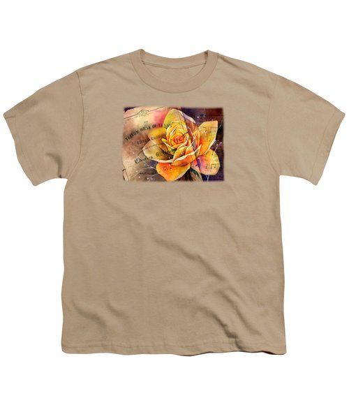 Yellow Rose Of Texas Youth T-Shirt by Hailey E Herrera
