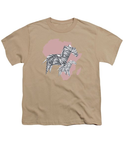 Zebras Youth T-Shirt by Absentis Designs