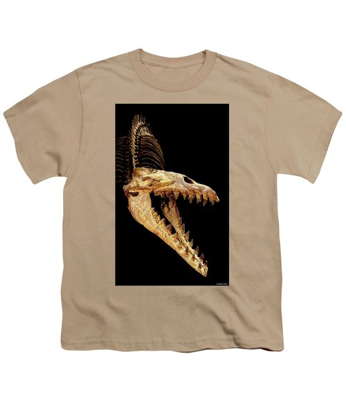 Cynthiacetus Skull In Black Youth T-Shirt