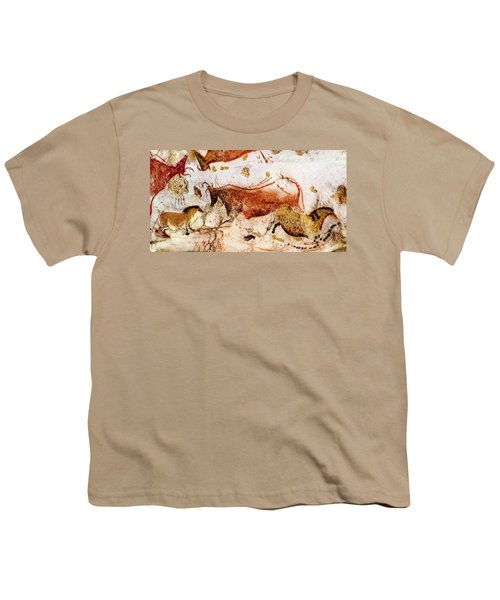 Lascaux Cow And Horses Youth T-Shirt