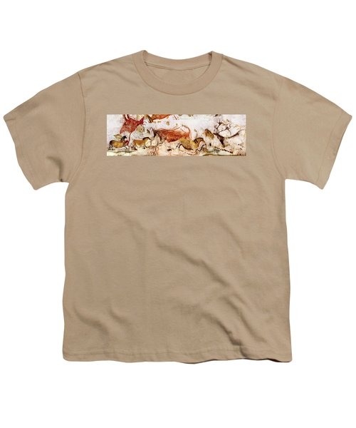 Lascaux Cows Horses And Deer Youth T-Shirt