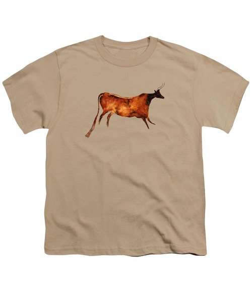 Red Cow In Beige Youth T-Shirt