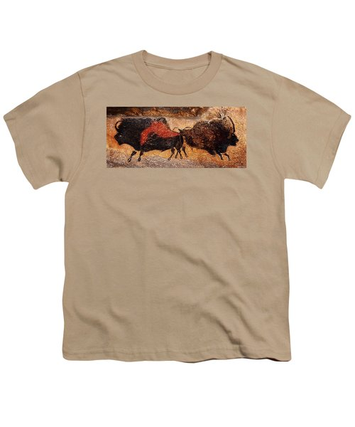 Two Bisons Running Youth T-Shirt