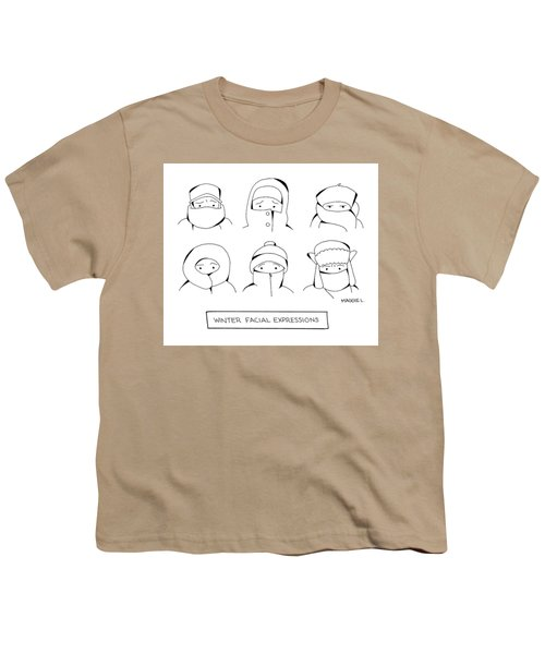 Winter Facial Expressions Youth T-Shirt