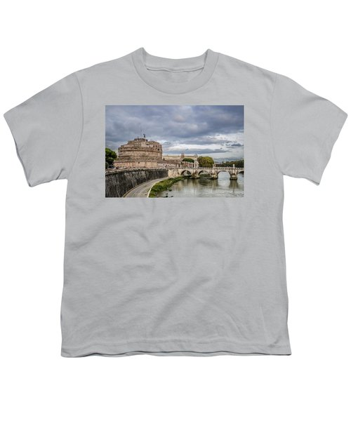 Castle St Angelo In Rome Italy Youth T-Shirt