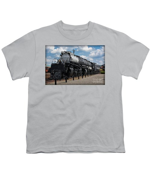 Youth T-Shirt featuring the photograph 4-8-8-4 Big Boy Locomotive by Gary Keesler