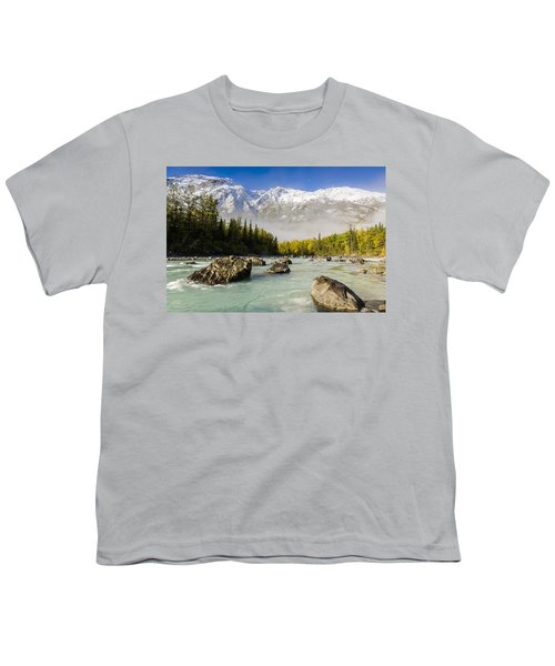 Autumns Colors Contrast With Winters Youth T-Shirt by Ray Bulson
