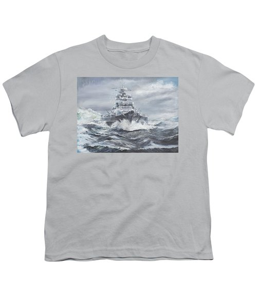 Bismarck Off Greenland Coast  Youth T-Shirt by Vincent Alexander Booth
